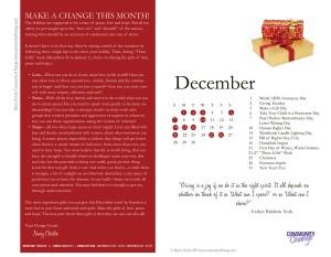 December Calendar of Change