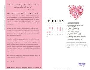 February Calendar of Change