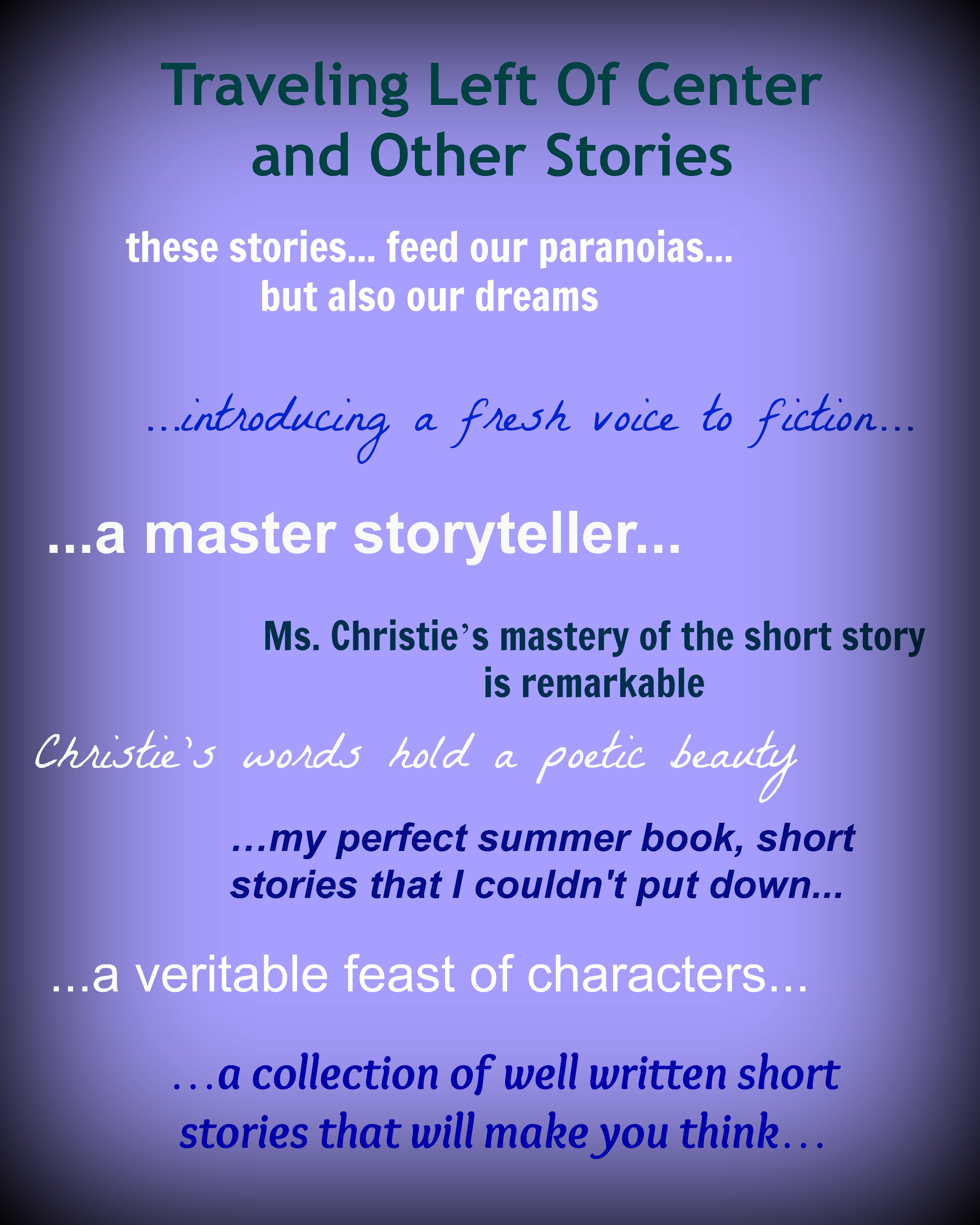 Slam Book Cover Page Quotes: Nancy Christie -- Author, Writer, Speaker
